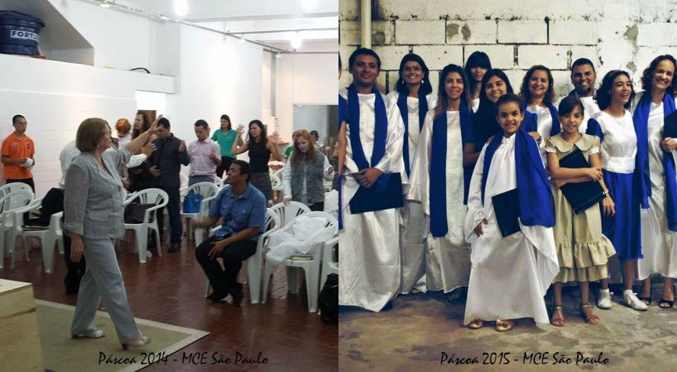Celebração da Páscoa na igreja de São Paulo