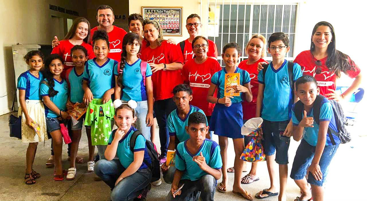 Igrejas do Pará realizam ação social evangelística em escola pública