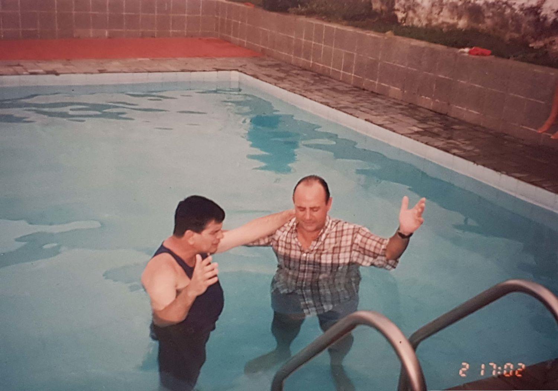 Mais um batismo, em 1999.