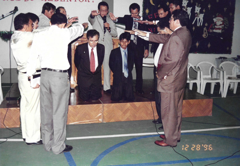 Separação dos evangelistas Lúcio e Ananias como pastores da Missão Cristo Redentor, em 1996