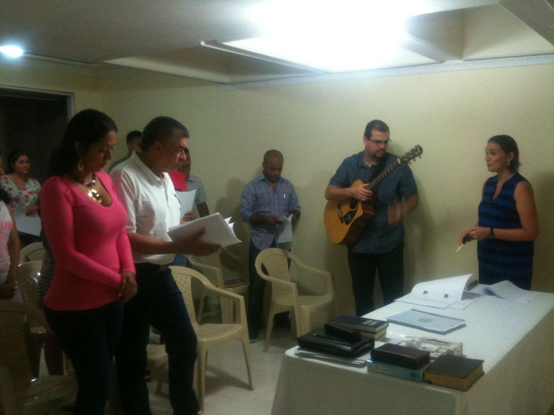 Março de 2015 - Visita dos pastores Guilherm e Liliam Pires (MCE Rio de Janeiro)