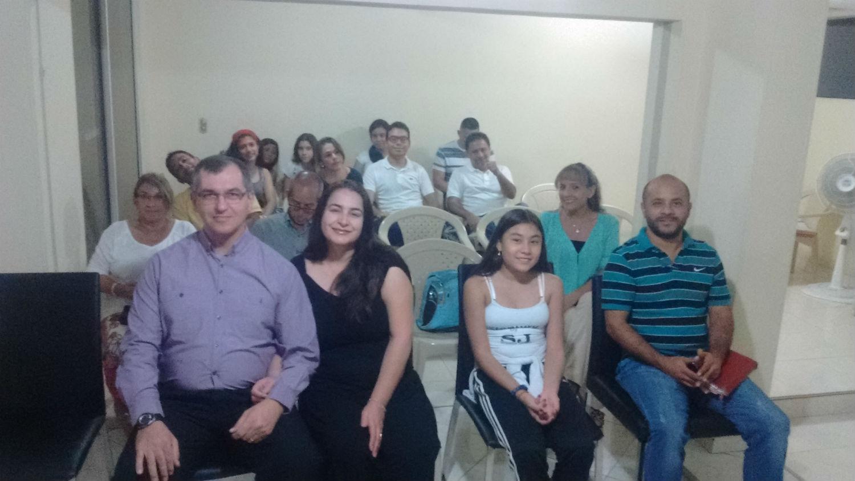 Dezembro de 2016 - Vista dos presbíteros Roberto e Luciane Souza da MCE Brasília